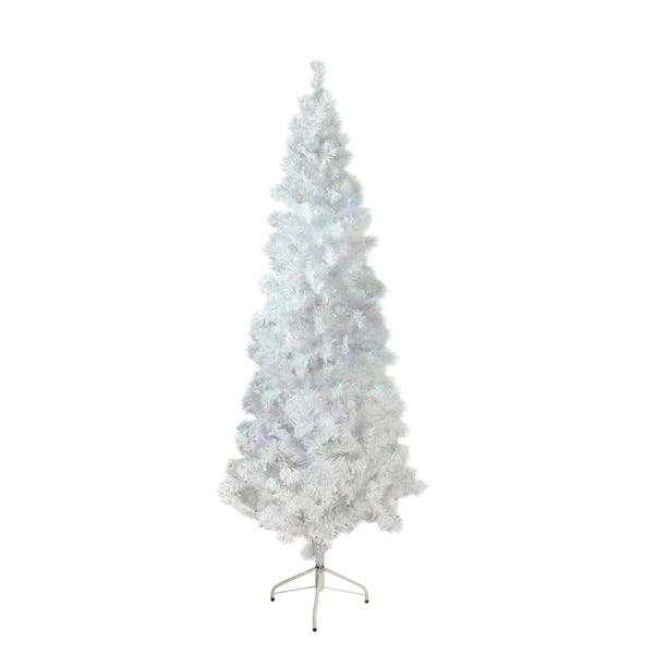 7 5 X 36 Pre Lit White Winston Pine Artificial Christmas Tree Multi Led Lights