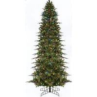 6' Pre-Lit Slim Palisade Artificial Christmas Tree - Multi LED Lights