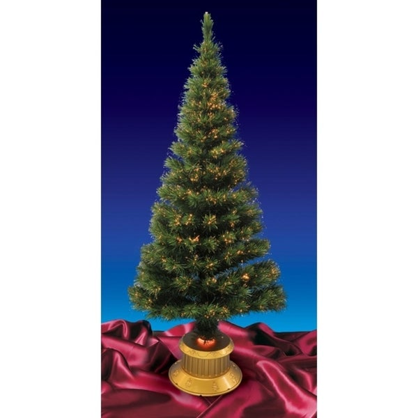 7' Prelit Color Changing Fiber Optic Artificial Christmas Tree