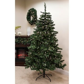 6.5' Pre-Lit Traditional Mixed Pine Artificial Christmas Tree - Clear Lights