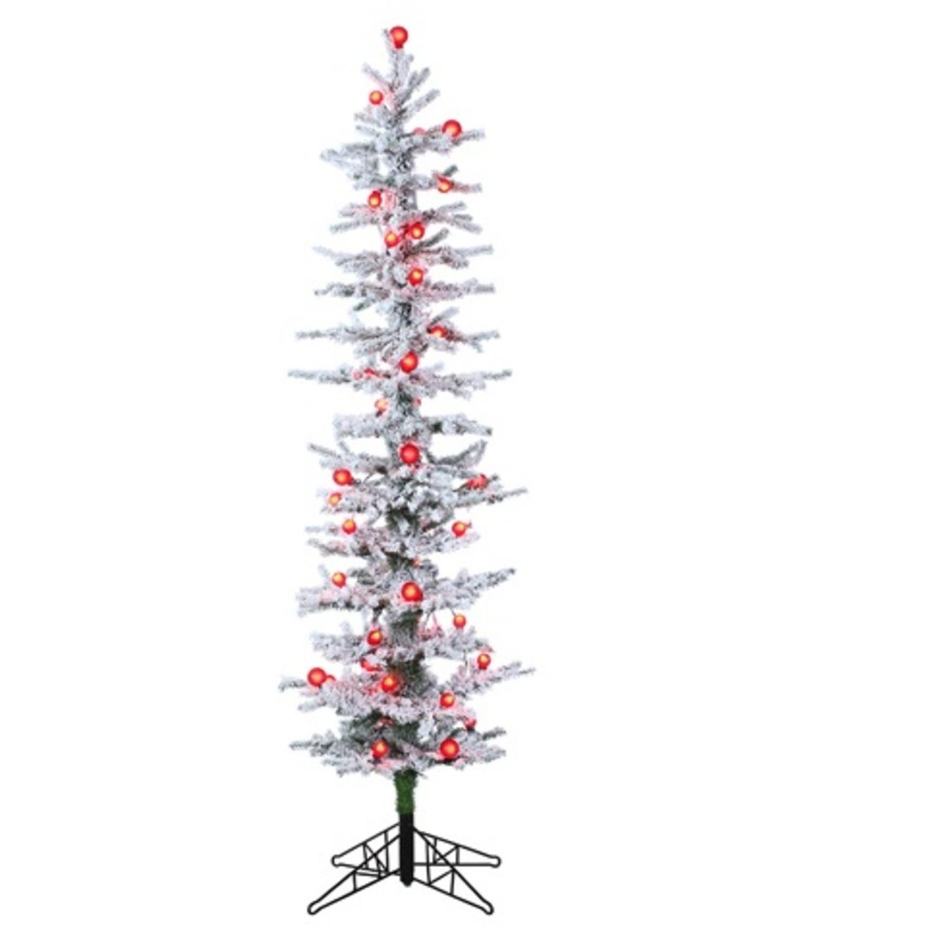 Allstate Floral & Craft 6' Pre-Lit White Snow Flocked Gre...