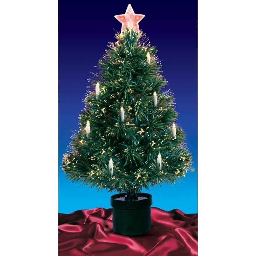 DAK 3' Pre-Lit Fiber Optic Artificial Christmas Tree with...