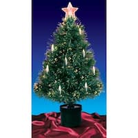 3' Pre-Lit Fiber Optic Artificial Christmas Tree with Candles - Multi Lights