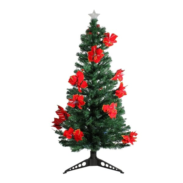 Shop 5\' Pre-Lit Fiber Optic Artificial Christmas Tree with ...