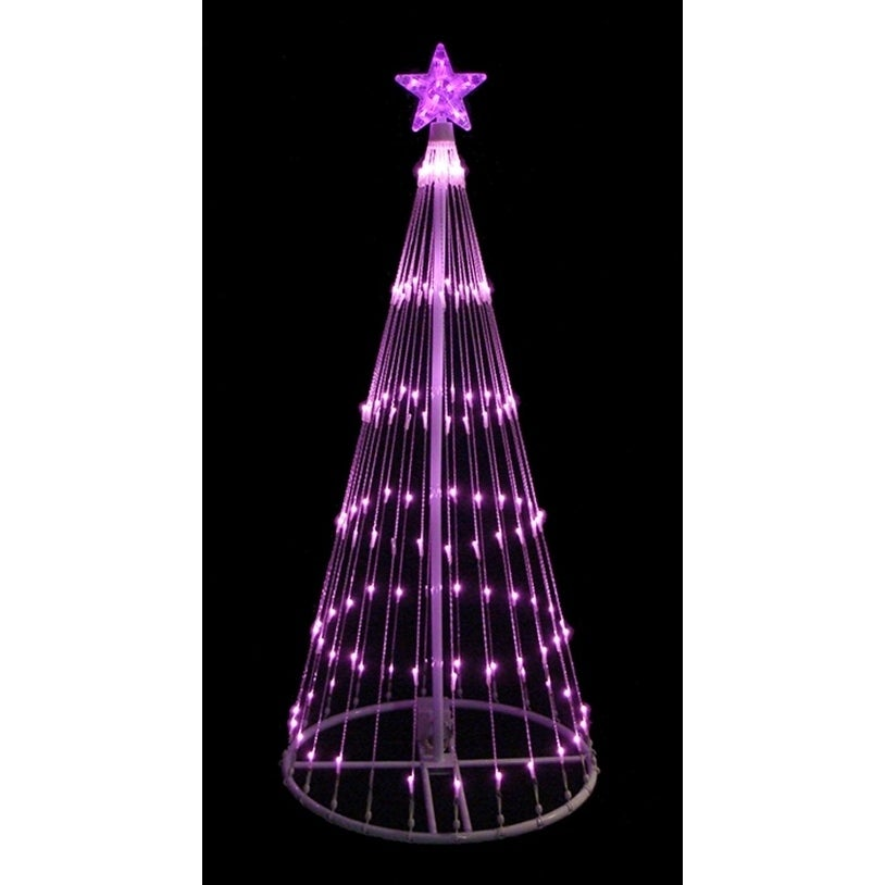 Lb International 4' Pink LED Light Show Cone Christmas Tr...