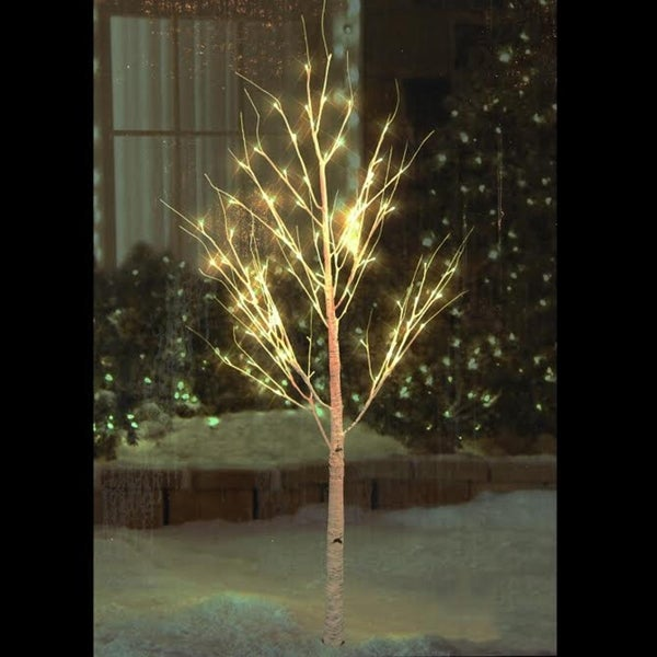 Pre Lit Decorative Twigs: Shop 6' Pre-Lit White Christmas Twig Tree Outdoor Yard Art