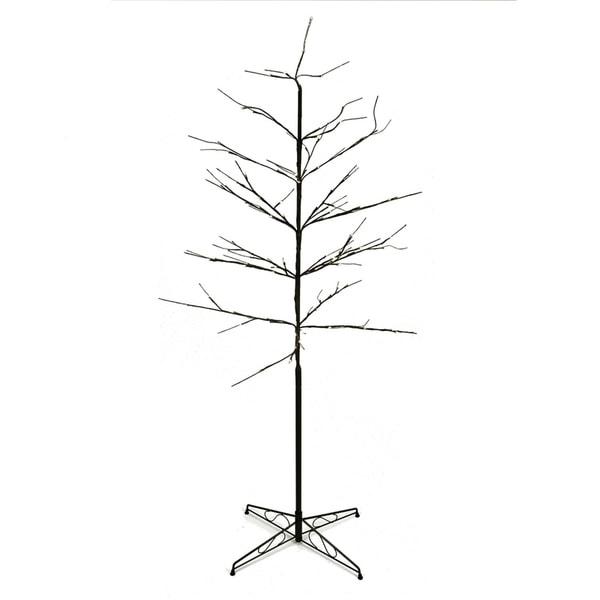 Outdoor White Twig Christmas Tree: Shop 6' LED Lighted Color Combo Christmas Twig Tree