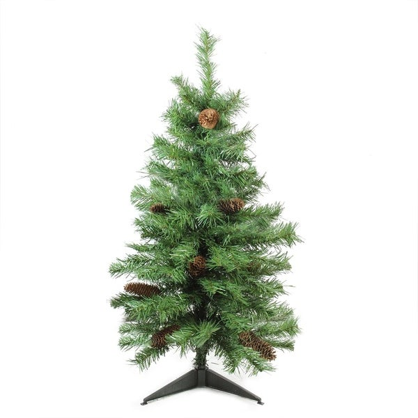 "Artificial Christmas Tree With Pine Cones: Shop 3' X 22"" Dakota Red Pine Full Artificial Christmas"