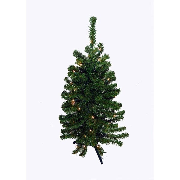 3' Battery Operated Pre-Lit LED Pine Artificial Christmas Tree - Clear - 3' Battery Operated Pre-Lit LED Pine Artificial Christmas Tree