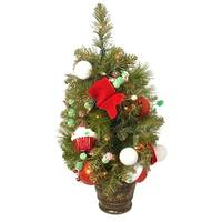 2' Candy Fantasy Pre-Lit and Decorated Artificial Christmas Tree - Clear Lights