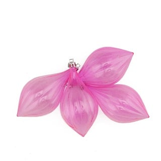 """4ct Pink Transparent Finial Shatterproof Christmas Ornaments 5"""""""