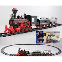 13-Piece Battery Operated Lighted & Animated Christmas Express Train Set with Sound