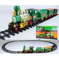20-Piece Battery Operated Lighted & Animated Classic Christmas Train Set with Sound
