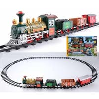 12-Piece Battery Operated Lighted & Animated Continental Express Train Set with Sound