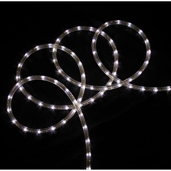 Christmas rope lighting Fence 288x27 Commericial Grade Pure White Led Indooroutdoor Christmas Rope Lights On Overstock Shop 288 Commericial Grade Pure White Led Indooroutdoor Christmas