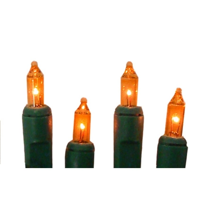 Sienna Set of 10 Battery Operated Orange Mini Christmas L...