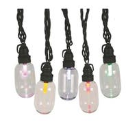 Set 25 LED T11 Oblong Edison Style Multi-Color Christmas Lights - Black Wire