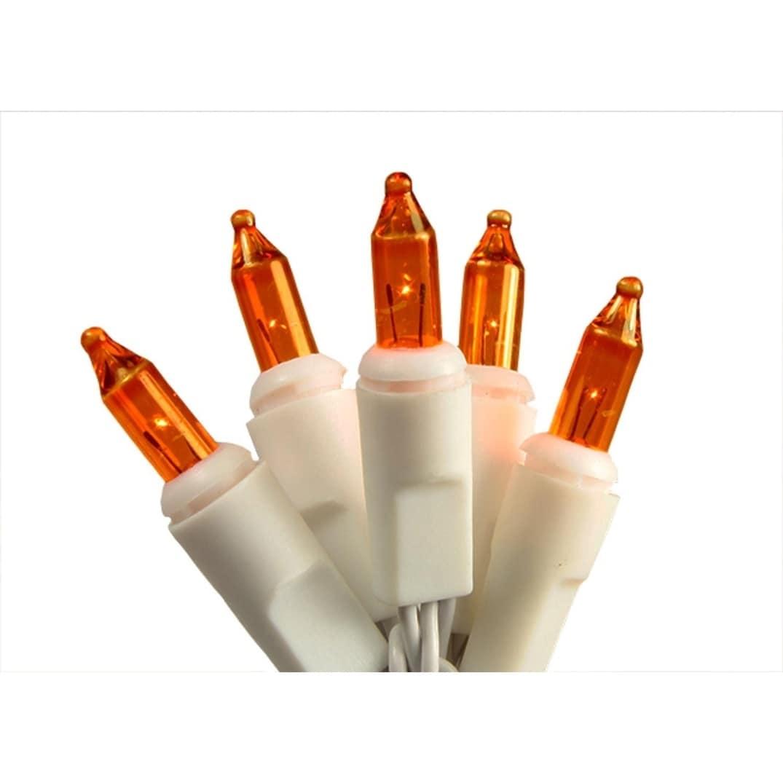 Sienna Set of 20 Battery Operated Orange Mini Christmas L...