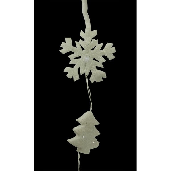 Set Of 12 Battery Operated Led Snowflake And Tree Christmas Lights Clear Wire Free Shipping Today 16987633