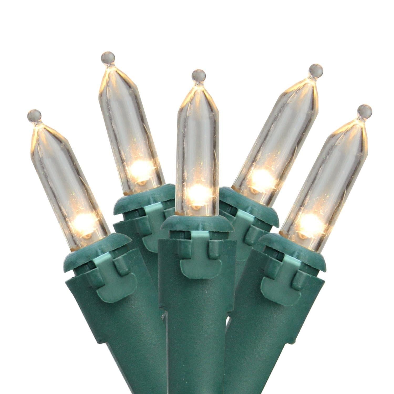 Brite Star Set of 100 Warm White LED Mini Christmas Light...