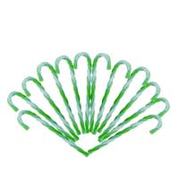 """12ct Green and White Twist Candy Cane Christmas Ornaments 6"""""""