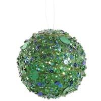 "Green Sparkle Kissing Christmas Ball Ornament 4"" (100mm)"