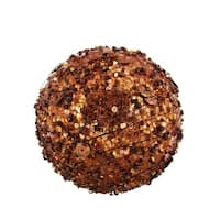 "Chocolate Sparkle Kissing Christmas Ball Ornament 4"" (100mm)"