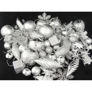 125-Piece Club Pack of Shatterproof Silver Splendor Christmas Ornaments|https://ak1.ostkcdn.com/images/products/16988687/P23271514.jpg?impolicy=medium