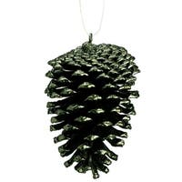 "4"" Rustic Lodge Dark Green Pine Cone Christmas Ornament"