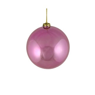 "Shiny Pretty in Pink Shatterproof Christmas Ball Ornament 6"" (150mm)"
