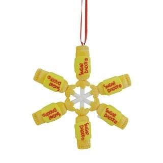 "4"" Candy Lane Tootsie Roll SUGAR DADDY Original Milk Caramel Lollipop Snowflake Christmas Ornament"