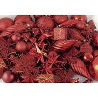 125-Piece Club Pack of Shatterproof Candy Apple Red Christmas Ornaments