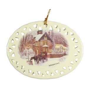 """Club Pack of 288 Home for the Holidays Ceramic Christmas Ornaments 3.5"""""""