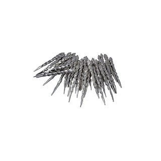 Club Pack of 36 Gunmetal Gray Shatterproof Icicle Christmas Ornaments 5""