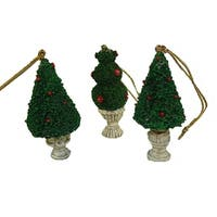 """Club Pack of 576 Potted Topiary Tree Christmas Ornaments 2.5"""""""