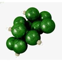 "Club Pack of 48 Green Envy Glitter Glass Ball Christmas Ornaments 2"" (50mm)"