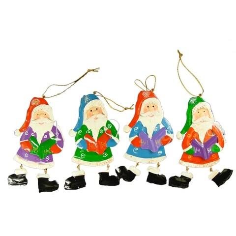 "Club Pack of 192 Santa Claus Caroler Christmas Ornaments 5.5"""