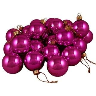 "Club Pack of 48 Shiny Fuschia Candy Glass Ball Christmas Ornaments 2"" (50mm)"