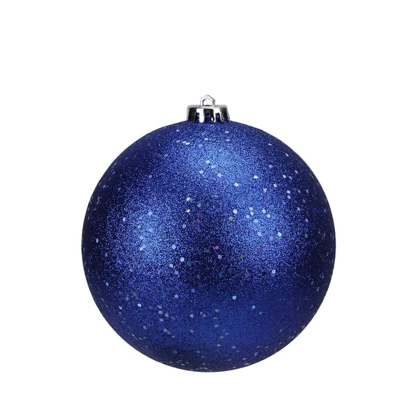 shatterproof lavish blue holographic glitter christmas ball ornament 6 150mm - Holographic Christmas Decorations
