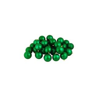 "60ct Matte Xmas Green Shatterproof Christmas Ball Ornaments 2.5"" (60mm)"