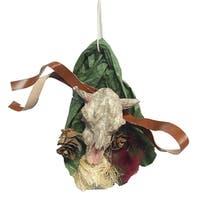 Pack Of 12 Western Steer Head Christmas Ornaments