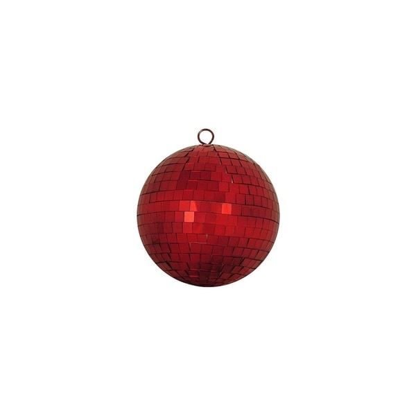 """Shop Red Hot Mirrored Glass Disco Ball Christmas Ornament 5.5"""" (140mm) - Free Shipping On Orders Over $45 - Overstock - 16989578"""