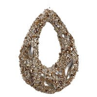 "7.5"" Golden Encrusted Sequins and Jewels Hoop Christmas Ornament"