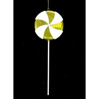 "Huge Candy Fantasy Key Lime Swirl Lollipop Christmas Ornament Decoration 40"""
