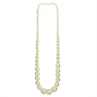 """18.75"""" Glamour Time White Pearl Beaded Swag Garland Christmas Ornament"""