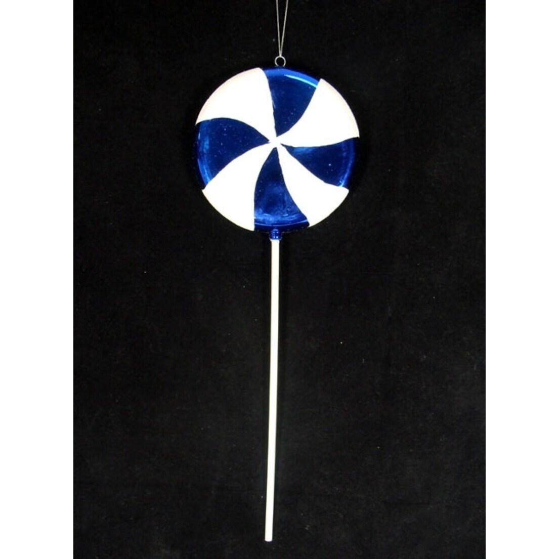 Vickerman Large Candy Fantasy Blueberry Swirl Lollipop Ch...