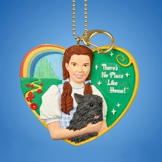 """3"""" Wizard of Oz Dorothy and Toto """"There's No PLace Like Home"""" Clip-On Christmas Ornament"""