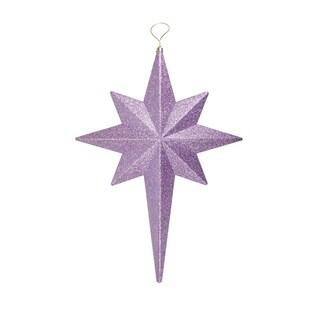 """20"""" Lavender Purple Glittered Bethlehem Star Shatterproof Christmas Ornament"""