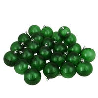 "16ct Green Transparent Shatterproof Christmas Ball Ornaments 3.25"" (80mm)"