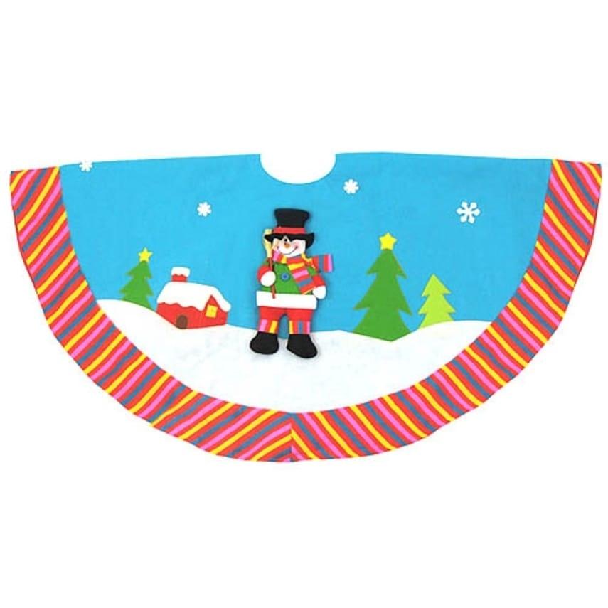 "CMI 48"" Sky Blue Winter Wonderland Snowman Christmas Tree..."